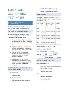 ACCTING 3501 – Corporate Accounting 3 exam notes + journal entries
