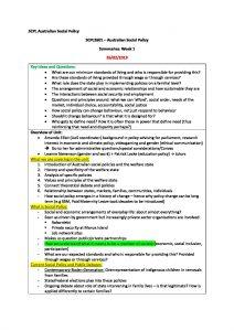 Australian Social Policy (SCPL2601) comprehensive summaries