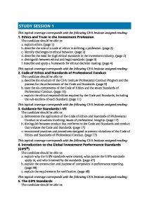 CFA Level 1 Ethics and Quantitative Methods Full Summaries