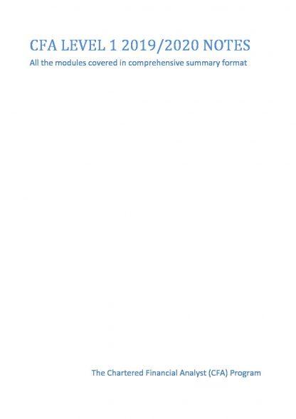 CFA Level 1 Summary Notes – Prep Materials