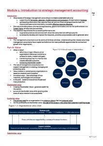 CPA Strategic Management Accounting (SMA) 2020 HD Summary