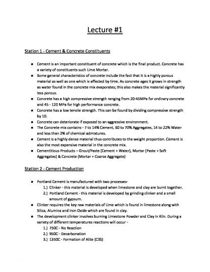 Construction Materials (BLDG1012) lecture notes – HD