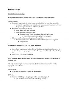 Crime and the Criminal Process (LAWS1021) Problem Question Notes