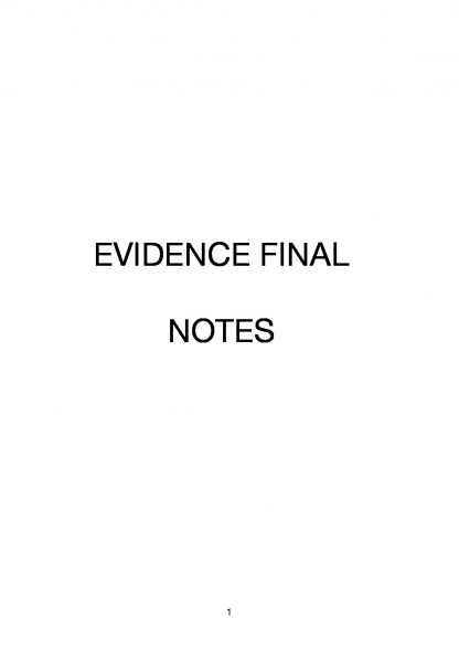 Evidence (70109) complete exam notes