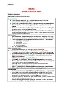 Introduction to Cultural Studies (GCST1601) comprehensive summary
