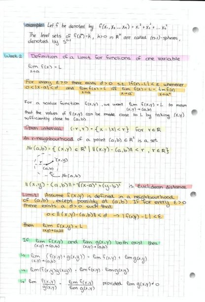MATH 237: Calculus 3 for Honours Mathematics notes