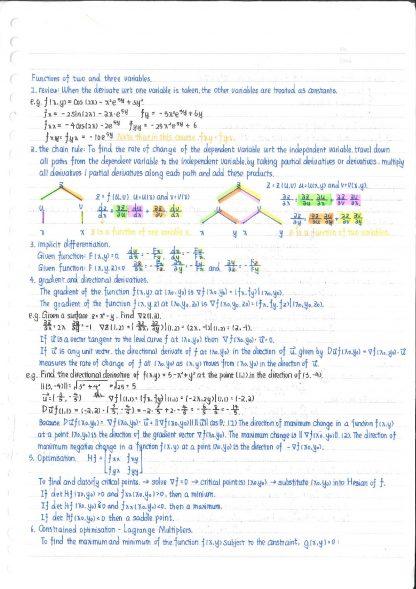 Maths 208: General Mathematics 2 revision notes