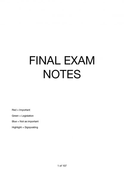 Public International Law (70108) complete exam notes