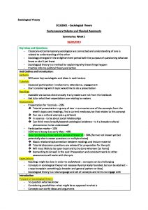 Sociological Theory (SCLG2601) complete summary HD notes