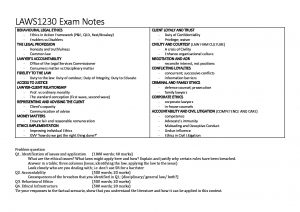 UNSW LAWS1230 – Lawyers, Ethics and Justice exam notes