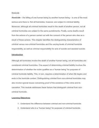 CJUS 3201 – UNT Criminal Law Exam 2 notes
