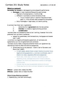 COMLAW 201: Commercial Contracts full course notes