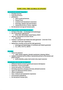 HSC Stage 6 Economics complete course notes with essay structure