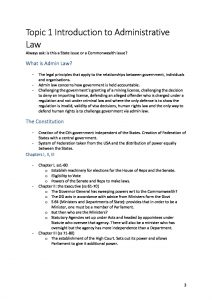 LAWS2010: Administrative Law detailed HD notes