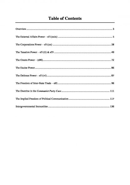 LAWS2011: Federal Constitutional Law full notes with scaffolds