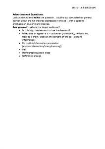 MKTG 303 : Consumer Behavior complete notes