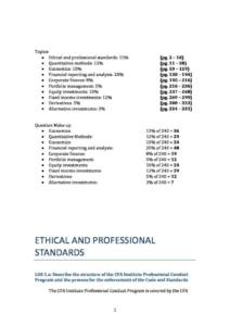 CFA Level 1 complete notes