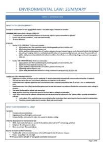 Environmental Law (LAWS5134) notes