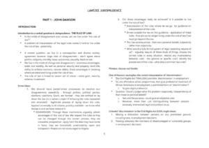 Jurisprudence (LAWS302) complete summary