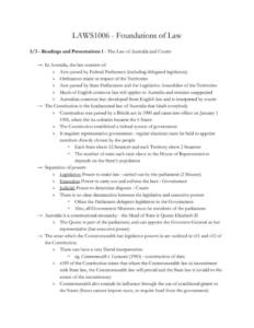 Foundations of Law notes with LAWS1006 assignment readings HD