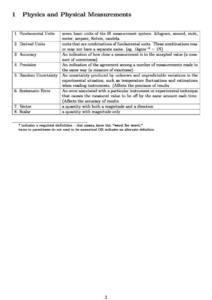 IB Physics glossary (key terms)