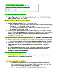 Research and Applications of Psychology (PSYC3011) lecture and final exam notes