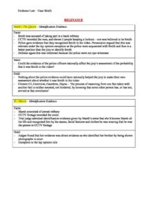 Evidence (LAWS399) complete HD notes and case briefs