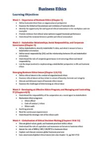 Business Ethics (MMM343) complete HD notes