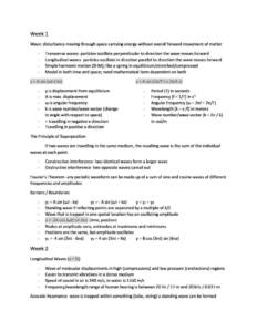 Physics for Life Sciences II (PHYS1070) complete course summary