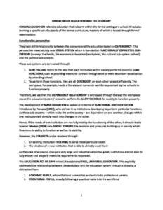 AQA A Level Sociology: Education revision notes