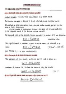 Further Statistics 1 – Edexcel A level Further Mathematics (Year 2) complete notes