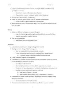 Genetics: IB Biology Topic 3 (SL and HL) complete notes