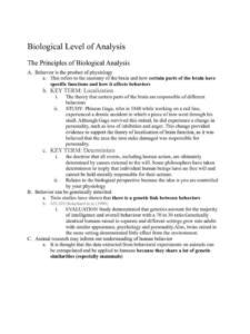 IB Psychology SL & HL Part I (compulsory) Core Semester 1 notes