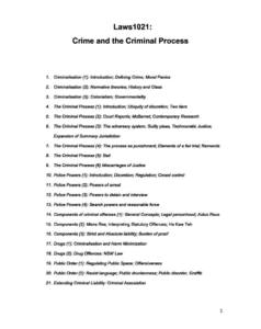 Crime and the Criminal Process (LAWS1021) complete notes