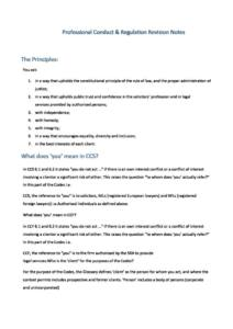 LPC Professional Conduct and Regulation revision notes with MCQ