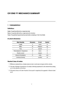 Mechanics I (CIVE40005) module summary – Imperial College