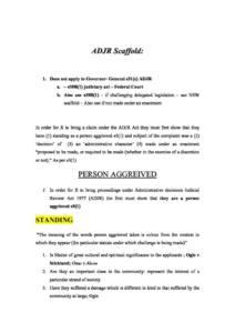 USYD Administrative Law (LAWS2010) ADJR problem question scaffold