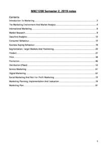 Principles of Marketing (MKC1200) complete notes