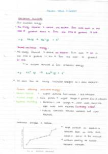 Periodic Table and Energy – OCR Chemistry A Module 3 notes