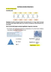 AQA GCSE Biology Paper 1 exam guide