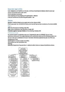 Corporate Law (BLAW20001) H1 exam notes