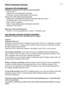 Fundamentals of Marketing (BM1103) full summary notes