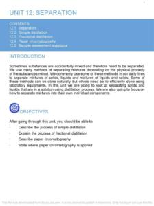 Chemistry – Cambridge IGCSE Combined Science notes