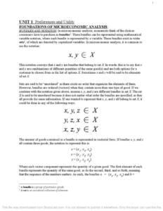 Microeconomic Theory (ECON2203) full notes