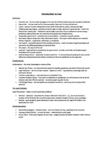 Foundations of Law (LAW1111) final exam notes