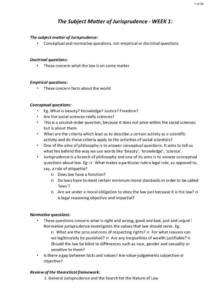 Jurisprudence (LAW214) full notes