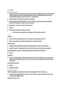 Criminal Law and Procedure (LAWS50034) exam notes