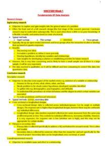 Survey Data Analysis (MKC3500) HD full notes