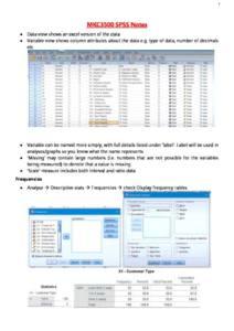 Survey Data Analysis (MKC3500) SPSS notes