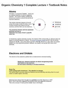 Organic Chemistry I (CHEM 231) complete notes